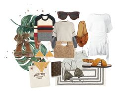 """Svensk sommar"" by angelbecca ❤ liked on Polyvore featuring Hermès, Isabel Marant, Étoile Isabel Marant, Sportmax, Triwa, San Diego Hat Co., CÉLINE and Patagonia"