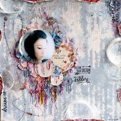 ScrapBerry's: What a beautiful boho chic and dreamy lay-out made by Aida Domisiewicz in mixed media style, Nture's Spirit collection Scrapbook Pages, Scrapbooking Layouts, Nature Spirits, Dreaming Of You, Boho Chic, Shabby Chic, Beautiful, Frankfurt, Mixed Media