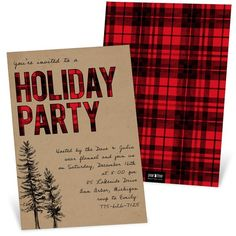 Flannel Party Holiday Party Invitation If you're having a holiday party with a plaid theme, this Flannel Party invitation from Pear Tree is perfect. Christmas Party Themes, Holiday Parties, Christmas Decorations, Plaid Christmas, Christmas Holidays, Office Christmas, Christmas Brunch, Christmas Stuff, Christmas Party Invitations