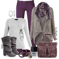 """""""Purple Jeans"""" by livewithgrace on Polyvore"""