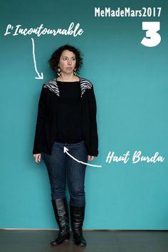 Me made Month Mars jour 3 : Haut Burda et l'Incontourable de MLM patrons: Couture, Mars, Blog, Movies, Movie Posters, Outfit, March, Films, Film Poster