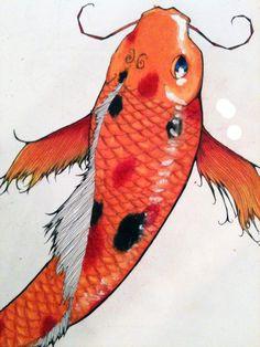 #illustration #koi #tattoo #penandink #prismacolor #colorpencil