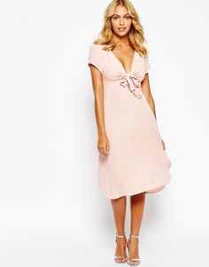 Love Bow Front Midi Dress