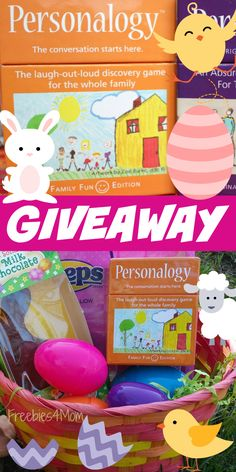 Enter to win Personalogy Family Fun Game Easter Giveaway ad Bring your family together for game night! (ends March 28) http://freebies4mom.com/easterfun