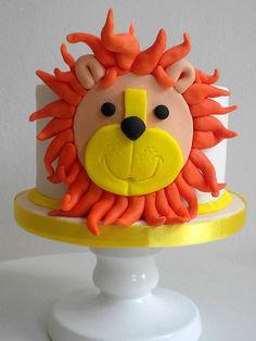 tarta león, lion cake