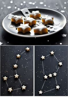 Présentation café gourmand constellation de cookies