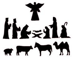 free nativity silhouettes for shadow puppets; could also use for stained glass crafts Nativity Stable, Nativity Crafts, Christmas Crafts For Kids To Make, Dollar Store Christmas, Holiday Crafts, Nativity Silhouette, Christmas Nativity Set, Natal Diy, Shadow Puppets