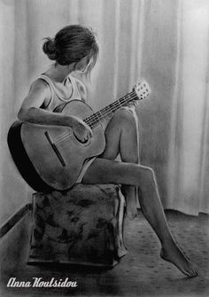 Dreaming Of YOU ! by annakoutsidou on DeviantArt Dreaming Of YOU ! by annakoutsidou Music Drawings, Dark Art Drawings, Girly Drawings, Girl Drawing Sketches, Art Drawings Sketches Simple, Sketch Painting, Portrait Sketches, Pencil Portrait, Abstract Pencil Drawings