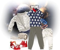 space party outfit for birthday boy