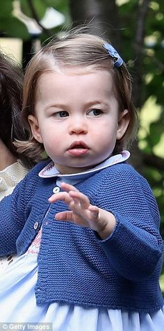 Princess Charlotte practicing her royal wave at a children's party in British Columbia