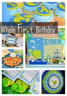 Whale First Birthday {Ocean Themed Party Ideas} - Spaceships and Laser Beams