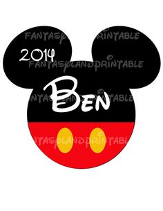 Mickey Mouse Classic for DIY Printable Jpeg to use as a Iron Transfer family  Disney trip Applique Vacation Shirt