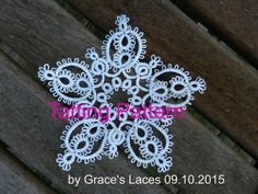 Tatting pattern a Christmas star PDF file instatnt di GracesLaces