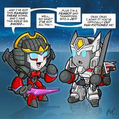 Lil Formers Windblade by MattMoylan on DeviantArt Transformers Funny, Transformers Autobots, Tf Art, Rescue Bots, Geek Culture, Funny Comics, Childhood, Deviantart, Cartoon
