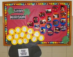 Music in our schools month bulletin board Music quotes, stats, and pics from the music class