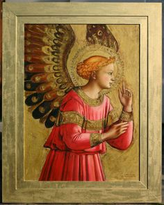 Fra Angelico, Catholic Pictures, Paint Icon, Hand Lettering Art, Archangel Gabriel, Byzantine Art, Renaissance Paintings, Paintings I Love, Orthodox Icons