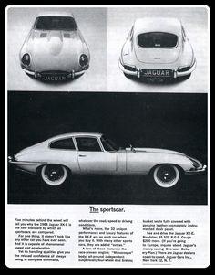 1964 Jaguar XKE XK-E coupe 3 photo vintage print ad Vintage Advertisements, Vintage Ads, Vintage Prints, Vintage Photos, Lamborghini, Ferrari, Jaguar Xj40, Jaguar E Type, Jaguar Cars
