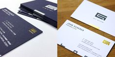 Gulf Building #businesscards by helium creative | #identity #foil