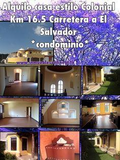 Alquilo casa Km 16.5 Carretera a El Salvador  *condominio* 4 dormitorios 2.5 baños 3 parqueos sala familiar, pergola, desayunador, estudio, cupulas, nichos y acabados antigueños renta $800 visitas anaurrutia@live.com www.inmueblesonlinegt.tk t 42221612 5184109 42387726 en Facebook Bienes Inmuebles GT