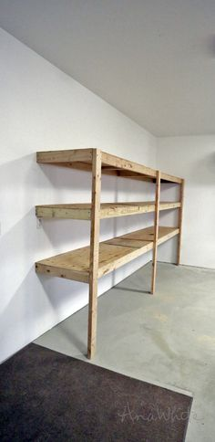 Ana White Build a Easy and Fast DIY Garage or Basement Shelving for Tote Storage Free and Easy DIY Project and Furniture Plans Basement Shelving, Garage Storage Shelves, Garage Shelf, Garage Organization, Tote Storage, Shelving Units, Storage Cabinets, Workshop Organization, Basement Ideas