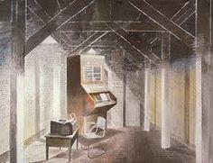 The Teleprinter Room, Eric Ravilious, 1941
