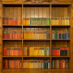 The library in the Mansion at Bletchley Park, where we encountered an unexpected rainbow - the bookshelves were stocked with books of many different colors!