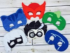 PJ Masks inspired masks. Luna girl and Night Ninja added!  (Please note the shipping time frame!) on Etsy, $8.00