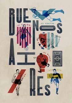Buenos Aires Ciudad de Fútbol by Jorge Lawerta, via Behance