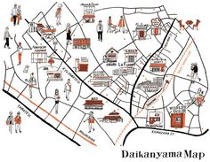 Hotspots in Tokyo! Tokyo Map, Tokyo Travel, Map Design, Book Design, Graphic Design, Design Thinking, Walking Map, Mental Map, Local Map