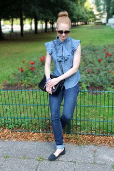 #jeans #levis #hilfiger #bluse #summer #look #happy # smile #girl #advanceyourstyle # fashion #fashionblog #outfit