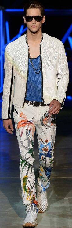 Roberto Cavalli | Spring 2015 | Men's Fashion | Menswear | Moda Masculina | Ropa para Hombres | Shop at designerclothingfans.com