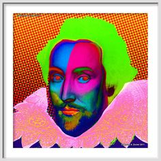 WILLIAM SHAKESPEARE  LARGE 20 x 20  Signed and by EisnerArt, $50.00