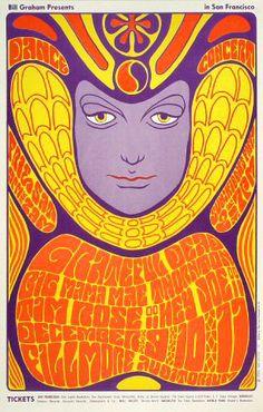 Grateful Dead Fillmore Poster BG41  Grateful Dead   Big Mama Mae Thornton   Tim Rose     12/9-11/1966   Artist: Wes Wilson  2nd printing