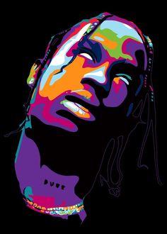 Arte Hip Hop, Hip Hop Art, Aesthetic Painting, Aesthetic Drawing, Travis Scott Art, Travis Scott Wallpapers, Trippy Painting, Chill, Rapper Art