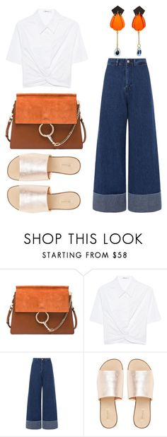 """""""mo"""" by zkrn on Polyvore featuring Chloé, T By Alexander Wang, Sea, New York and L.E.N.Y."""