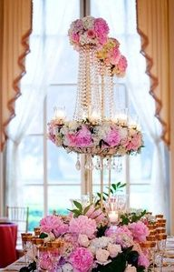 Lovely floral centerpiece for a wedding