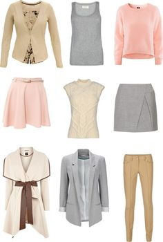 """Light spring soft colors"" by sabira-amira ❤ liked on Polyvore"