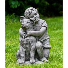 Best Buddies Boy and Dog Statue S-471