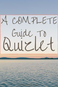 If you are a college student, you NEED to check out Quizlet. Portable notecards I can access on my phone? Check. Practice tests auto-generated for me? It has that too! Learn more in this COMPLETE guide to Quizlet. Studying just got a whole lot easier.