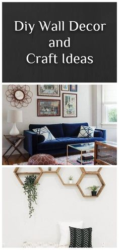 AMAZING, COST-EFFECTIVE AND EASY DIY WALL CRAFTS FOR THE BEGINNERS Diy Wallpaper, Diy Wall Decor, Home Decor, Wall Hooks, Wall Decals, Repurposed, Easy Diy, Gallery Wall, Clock