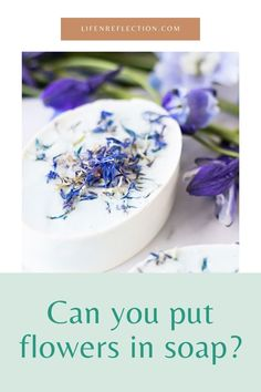 Can you put flowers in soup without the flowers turning brown? Soap, Canning, Flowers, Home Canning, Royal Icing Flowers, Bar Soap, Flower, Florals, Soaps