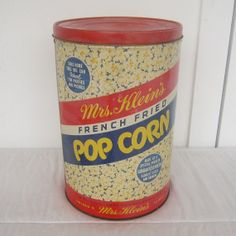 Vintage Tin Mrs Kleins FRENCH FRIED Popcorn by DesignWise4U, $32.00
