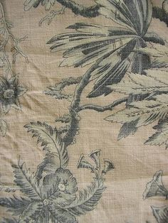 French antique toile fabric