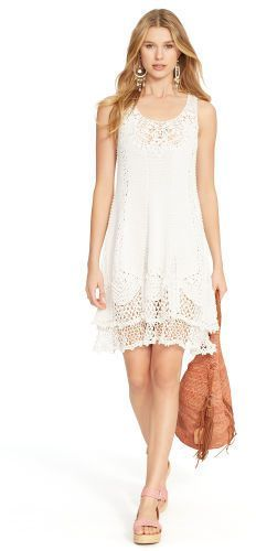 Polo Ralph Lauren Crocheted Pima Cotton Dress