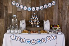 67 Best Blue And Brown Baby Shower Images Boy Shower Baby Boy
