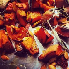 Roasted Butternut squash, nutty buttery and so easy....