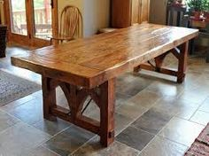 large reclaimed oak monastery dining table - mobius living