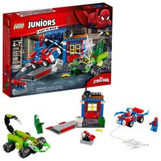 Lego Juniors Spiderman Vs Scorpion Street Showdown 125 Pieces Building Toy New Lego Juniors, Lego Junior Sets, Lego Sets, Spiderman Lego, Superhero, Batman, Legos, All Lego, Man Vs