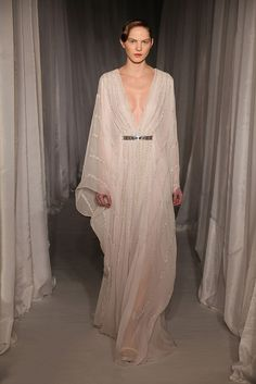 wildflower wedding gown // belted caftan in light and airy chiffon // nicholas oakwell // be a Wildflower: lifestyle, design, and wedding inspiration by The Wildflowers on Instagram @ thewildflowers_com