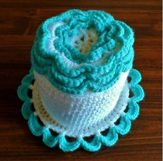 Inspiration~Crocheted toilet paper roll cover